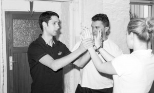 Wing Chun Lehrer und Schüler